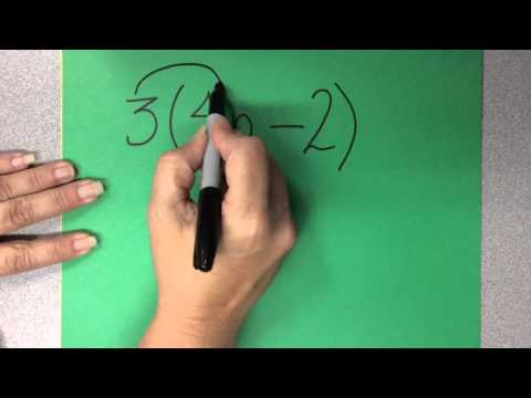 Distributive property with variables