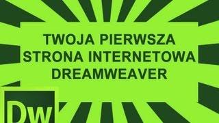 kurs dreamweaver - twoja 1 strona internetowa
