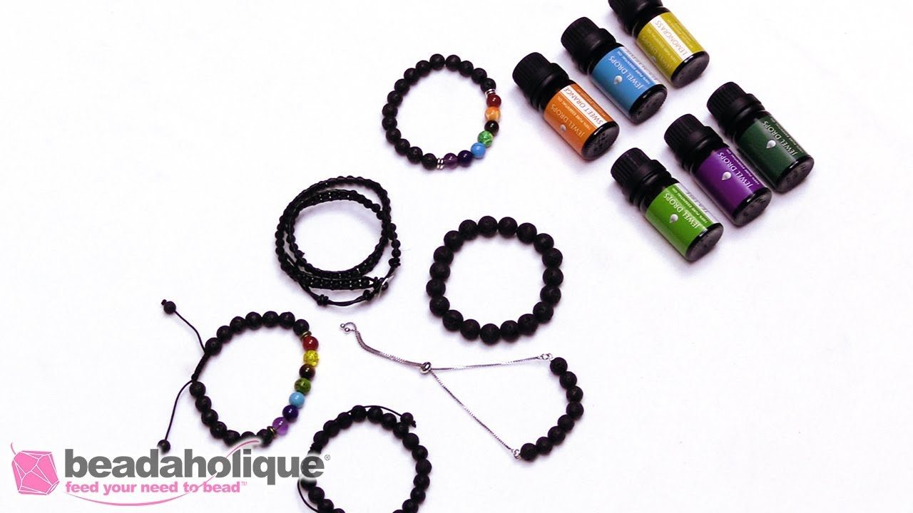 How To Add Essential Oils To A Lava Bead Bracelet Youtube