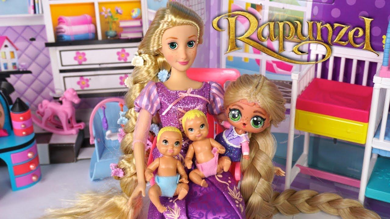 Barbie Doll Lol Rapunzel Family Has