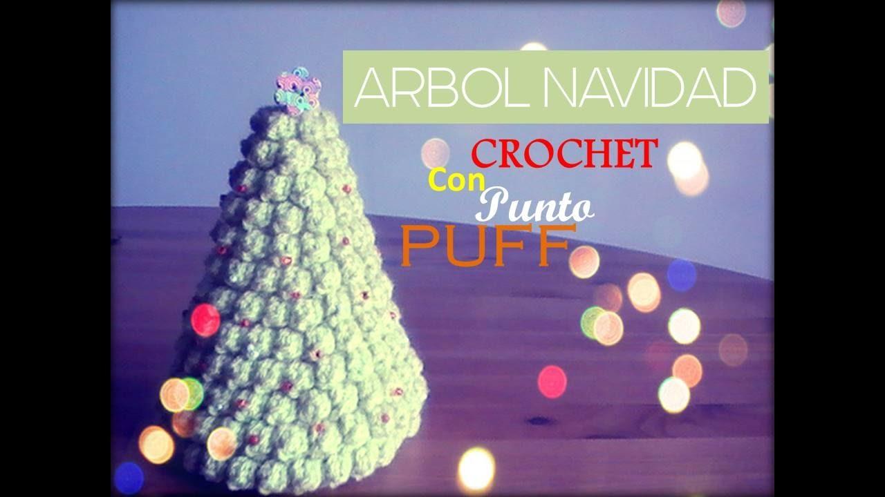 ARBOL de Navidad a CROCHET con punto puff (zurdo) - YouTube