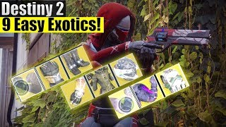 Destiny 2 - How To Get 9 Easy Exotic! (3 For Hunter, 3 For Warlock & 3 For Titan)