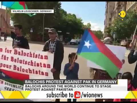 Balochis protest against Pakistan in Germany