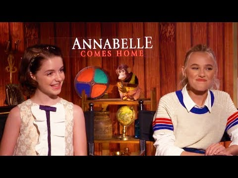 ANNABELLE COMES HOME McKenna Grace, Katie Sarife & Madison Iseman Interview (2019)
