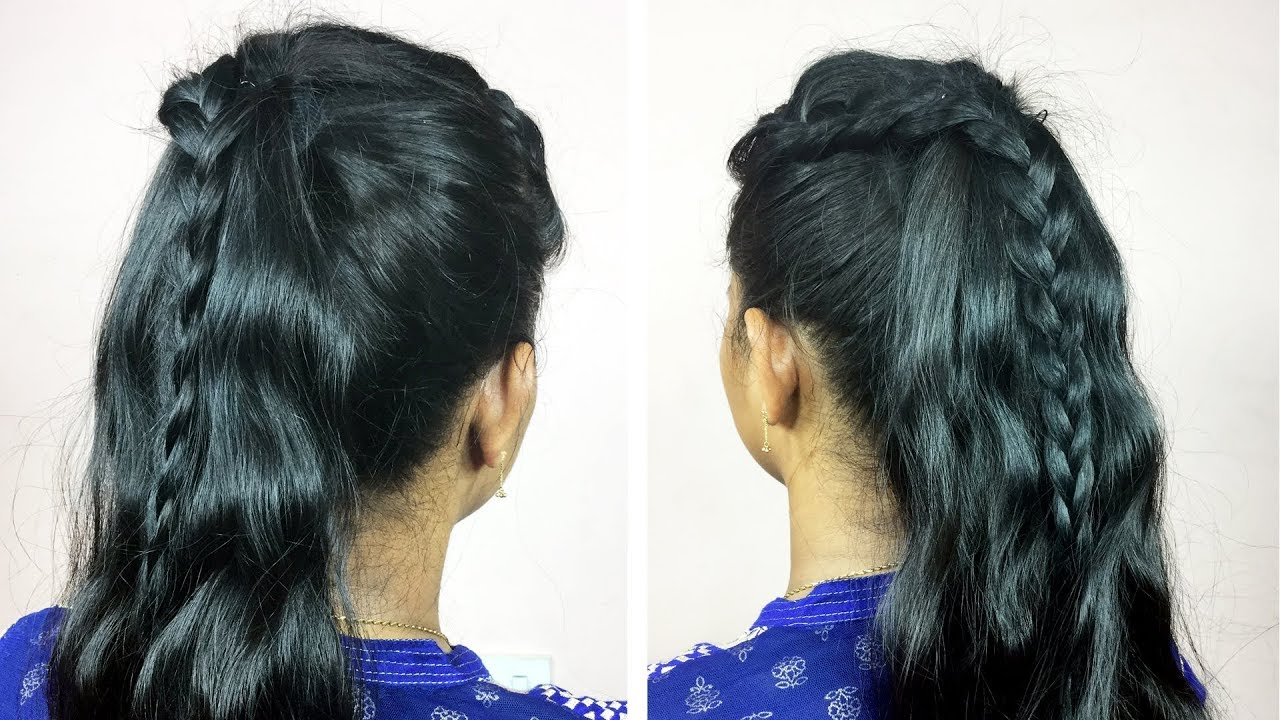 5 min HairStyle(Open Hair Hairstyle) | Everyday Quick&Easy Hairstyles For school/collage/party ...