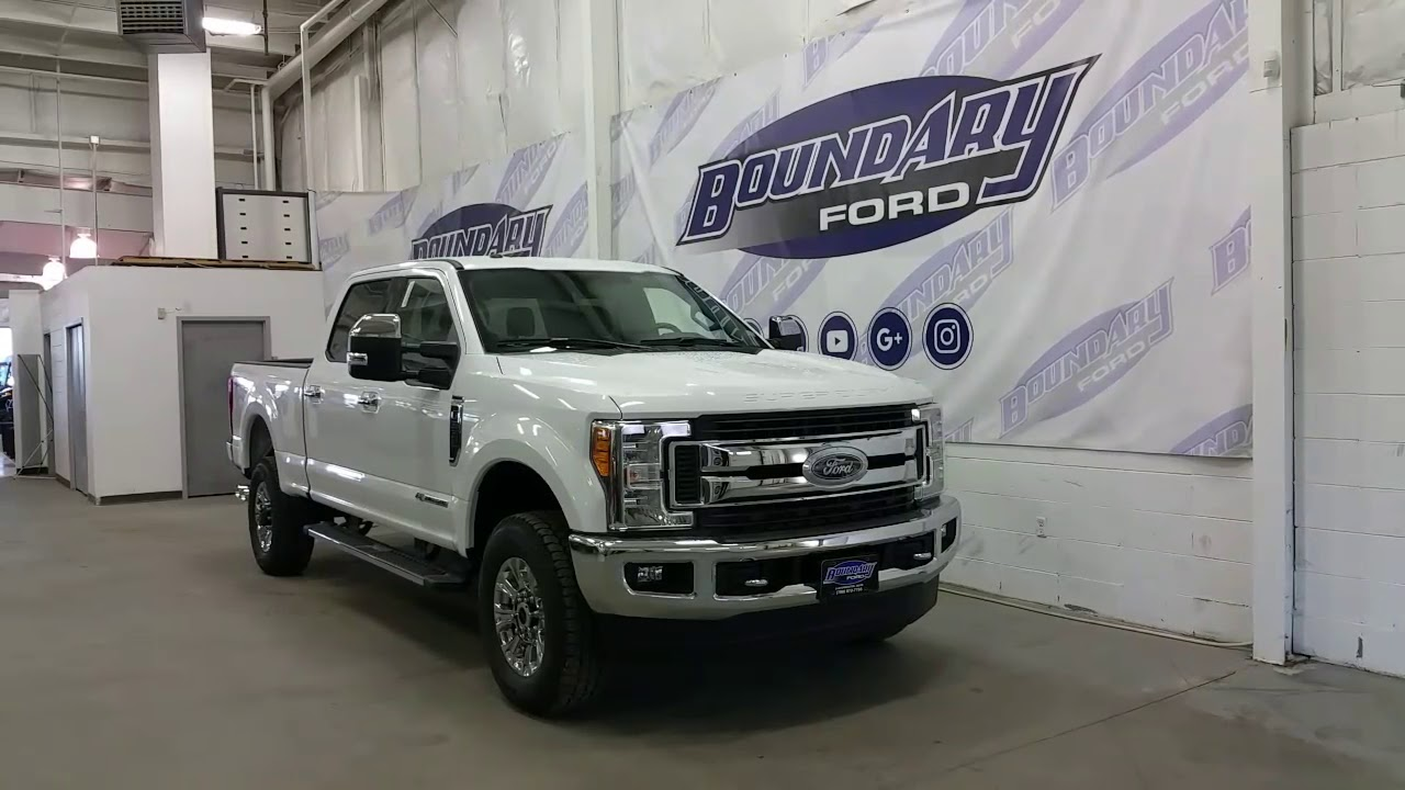 2017 Ford F 350 Superduty Xlt W 6 7l Sel Oxford White Penger Overview Boundary