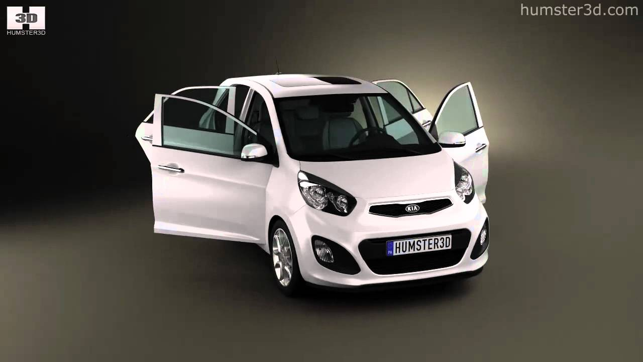 kia picanto 2012 with interior by 3d model store youtube. Black Bedroom Furniture Sets. Home Design Ideas
