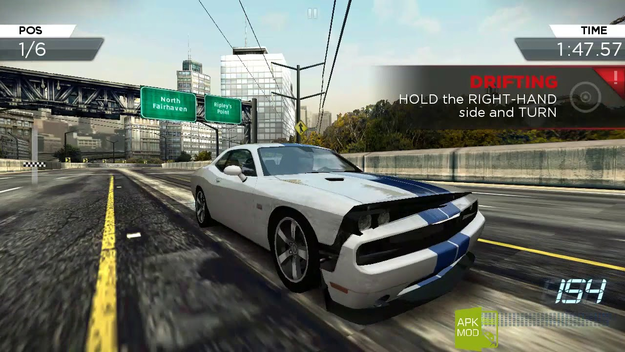 nfs most wanted mod apk and obb for android