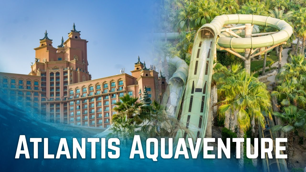 water slides at atlantis aquaventure dubai atlantis the palm viyoutube. Black Bedroom Furniture Sets. Home Design Ideas