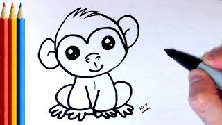 How to Draw a Monkey (simple) - Step by Step Tutorial