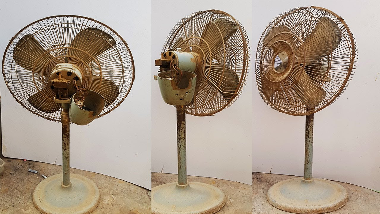Very rusty dusty fan restoration _ Full Final Restoring fan