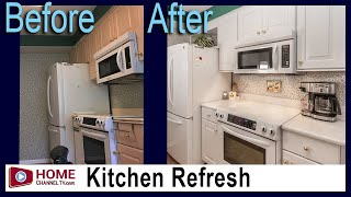 Small White Kitchen Gets an Update - Remodel by KLM Builders & Remodelers