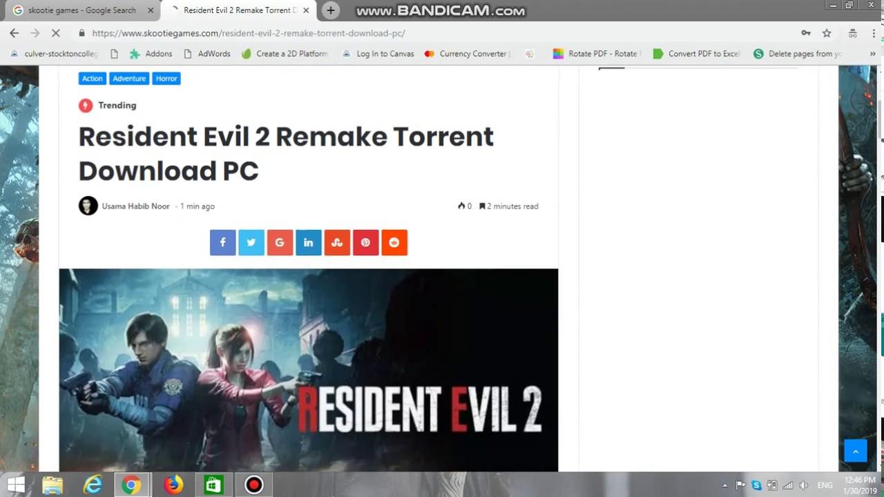 resident evil 3 torrents