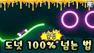 꿀팁 도넛100% 넘는 위치와 넘는 방법 - 라이더(rider) - 눈표범의 모바일게임