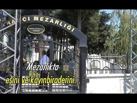 Mezarlıkta eşini ve kayınbiraderini...