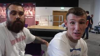 DARREN TRAYNOR  -'WERE NOT CONCERNED ABOUT BEING IN BELFAST A BOXING RING IS A BOXING RING'