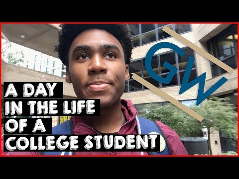 A DAY IN THE LIFE OF A COLLEGE STUDENT // GEORGE WASHINGTON UNIVERSITY