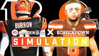 Cincinnati Bengals vs. Cleveland Browns Week 2 Full Game | Madden 2020 Season Simulation