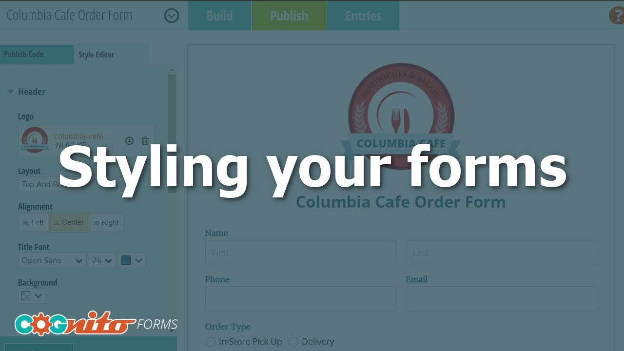 Styling Your Forms - Cognito Forms