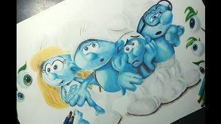 Smurfs: The Lost Village | Speed drawing | Mahnoor Rizvi