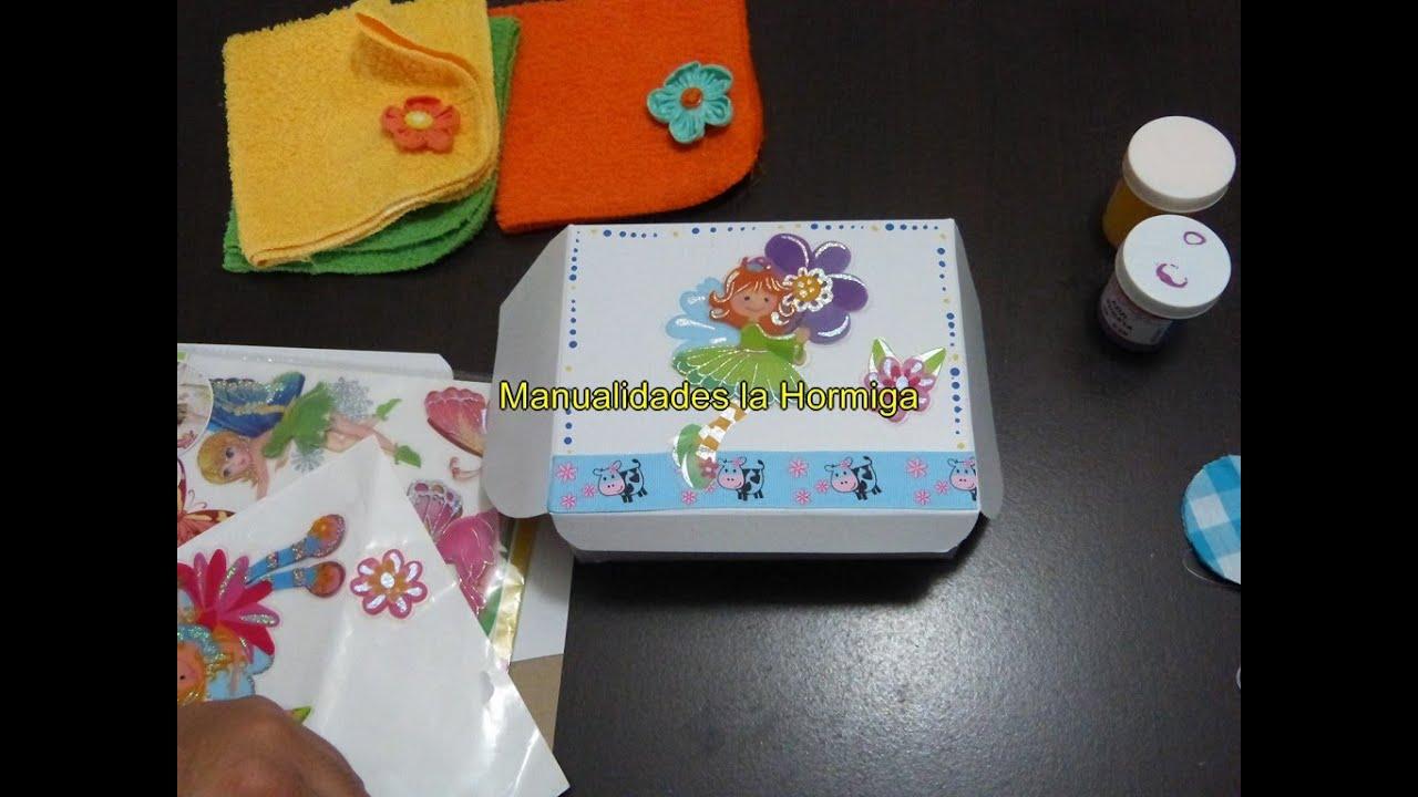 Cajas de cart n decoradas con cintas empaques para for Cajas de carton decoradas