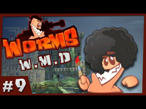 Worms WMD - #9 - Bob Ross Worm (4 Player Gameplay)