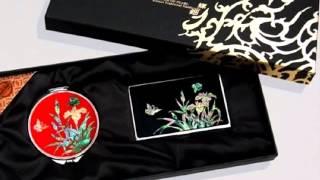 전통 나전칠기 손거울 2종세트 동영상 간담회 기념품,사…