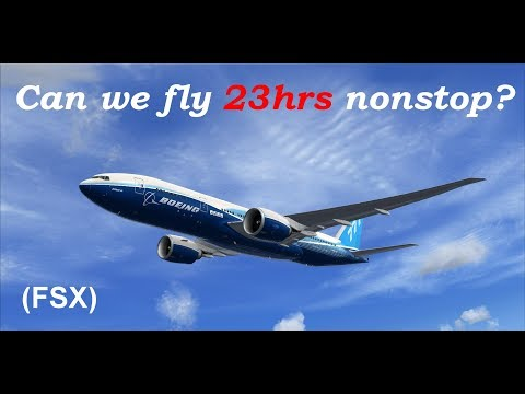 Can we fly 23 hrs non-stop? (FSX)