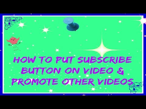 how to add subscribe button on youtube channel
