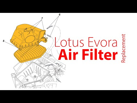 Lotus Evora – Engine Air Filter, Air Cleaner Replacement – by the book and the faster way