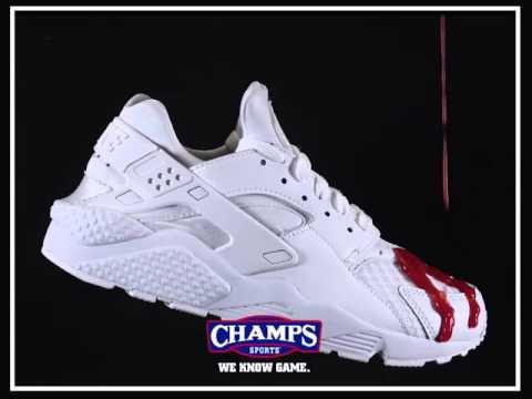 new styles cde62 da1fd White Huarache Champs Crep - YouTube