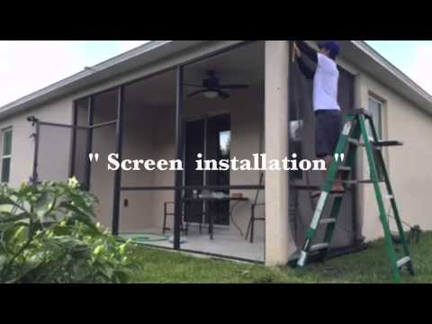 Patio and Porch Screen installation