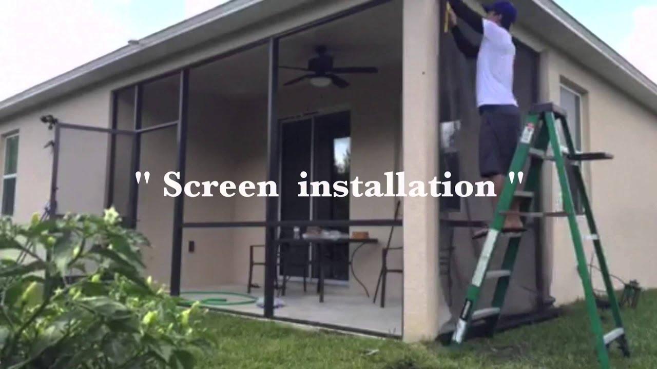 patio and porch screen installation