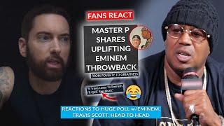 Master P Shares Eminem Appreciation Post, Fans React As Eminem Edges Out Travis Scott In Poll
