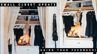 Making Over My Small Closet AGAIN With YOUR Feedback | Fixing What Wasn't Working!