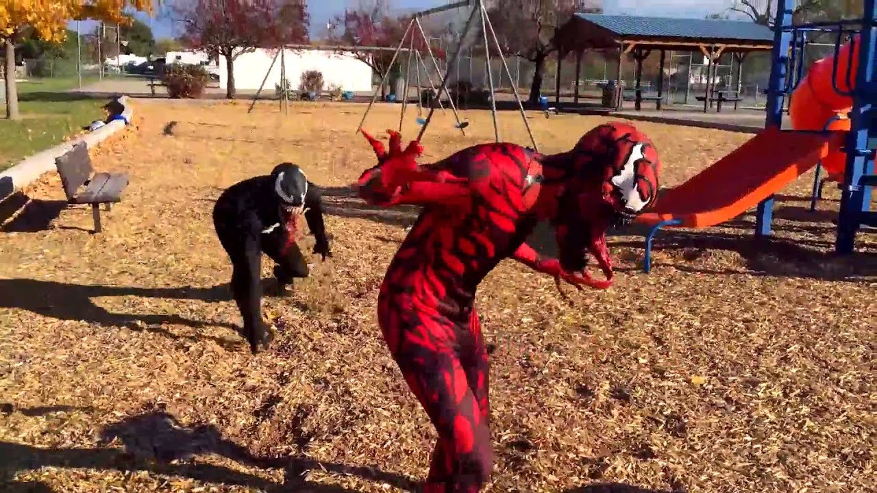 Spiderman & Venom vs Carnage In Real Life   SuperHero Movie!