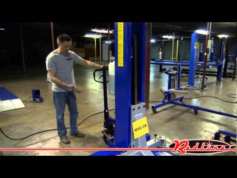 Ideal MSC-6KLP 6,000 lb Mobile Single Column Lift   Low Profile