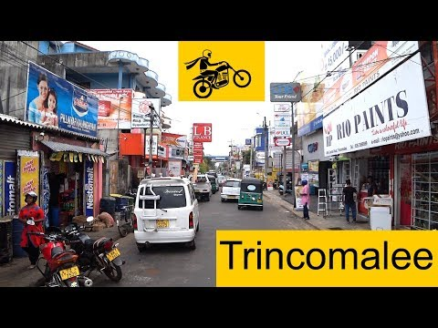 Driving through the streets of Trincomalee in Sri Lanka