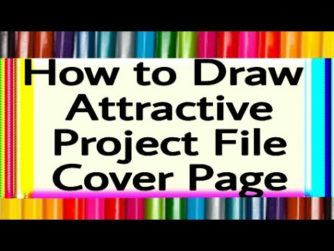 How to decorate project files with cover page cover page for Assignment front page decoration