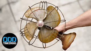 Restoring Old Rusty Table Fan with Laser Cleaning