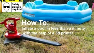 How to Inflate a Pool in less than a minute