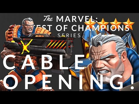 Cable Crystal opening! Can we get a 4-star Cable??? - MARVEL: CONTEST OF CHAMPIONS