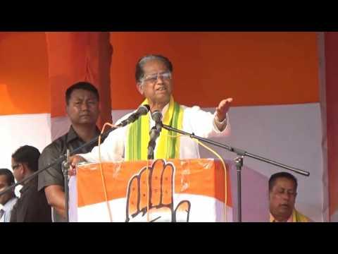 Hon'ble Sjt Tarun Gogoi's speech in a public rally at Abhayapuri