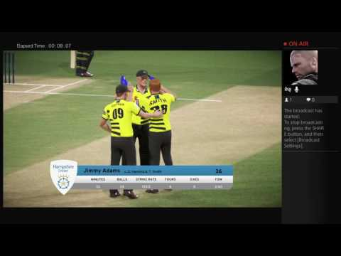 Don Bradman Cricket 17 English County Gameplay Live Streaming PS4