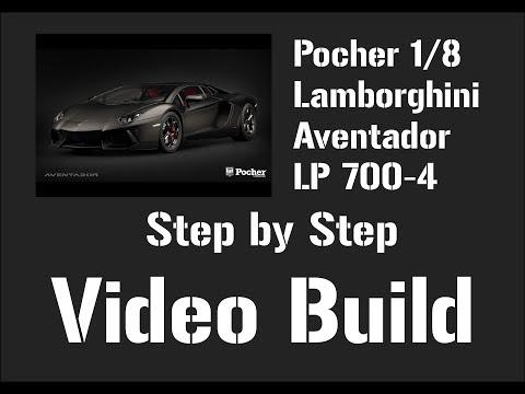 Pocher 1/8 Lamborghini Aventador LP700-4 (Nero Nemesis) Step by Step Video Build