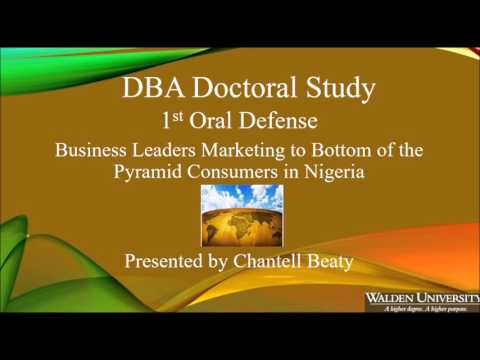 Inside My Oral Defense: Bottom of the Pyramid and Nigeria, Part 1