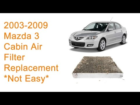 2003 – 2009 Mazda 3 Cabin Air Filter Replacement DIY
