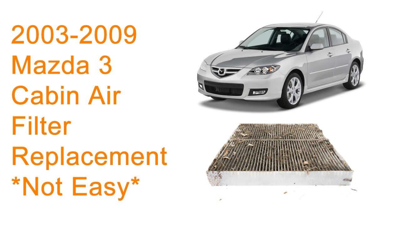 2003 2009 mazda 3 cabin air filter replacement diy [ 1280 x 720 Pixel ]