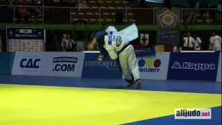 World Cup Rome 2012 : Dragin (GRA) - Le Blouch (FRA) - TOP IPPON - harai-tsuri-komi-ashi