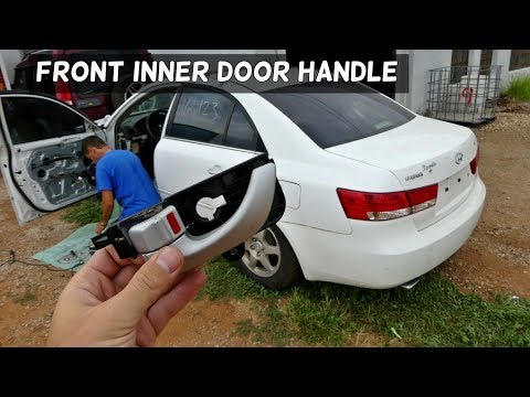 How To Remove And Replace Interior Inner Door Handle On Hyundai Sonata Youtube